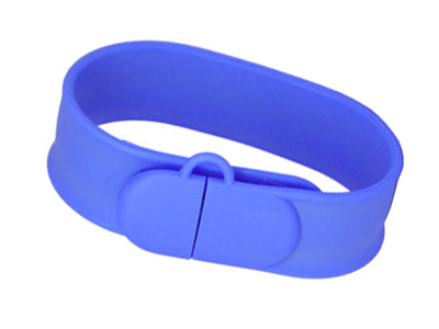 Slap-On USB Wristbands